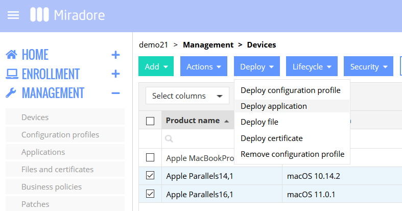 Deploy apps to macs.