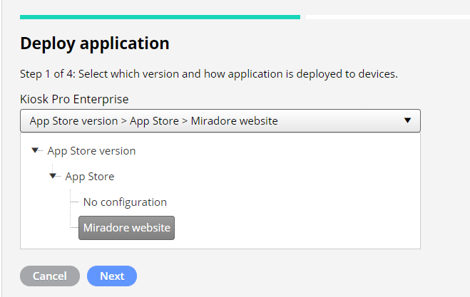 How to deploy app with managed configurations