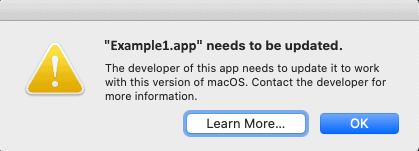 Alert MacOS