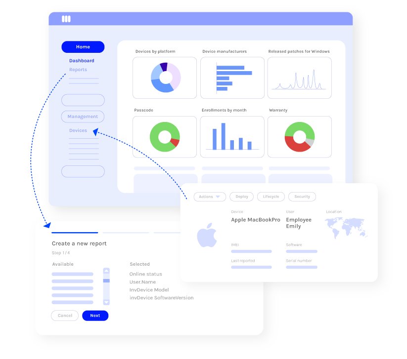 Miradore analytics and reporting for macOS