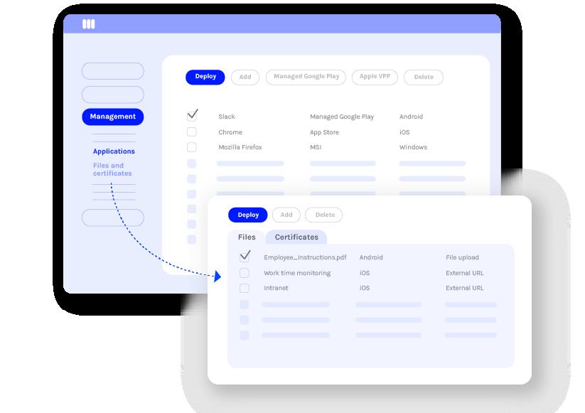 Miradore content and app management